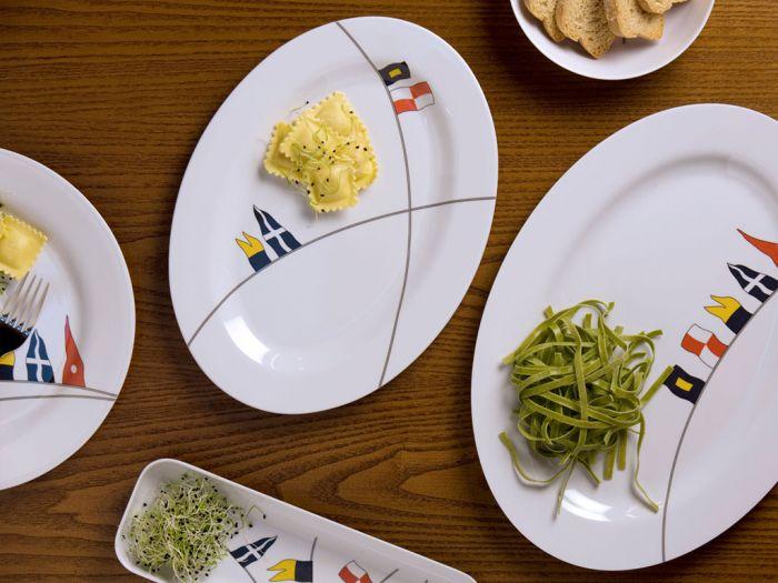 Set di 2 piatti da portata regata - Piatti da portata particolari ...