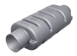 Silenziatore in plastica Vetus MP