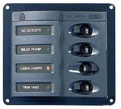 Pannello Controllo con 4 Magnetotermici