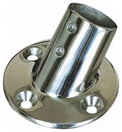 Supporto base tonda a 60° inox  25mm