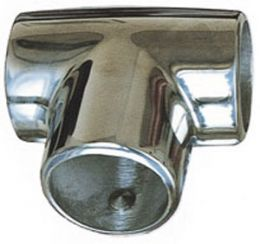 Supporto inox a Tee 90° 25mm