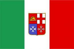 Bandiera Italiana Mercantile Adesiva