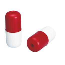 Galleggiante cilindrico bianco/rosso